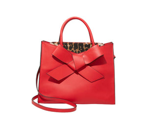 Cutting Edge Bow Satchel Red by Betsey Johnson