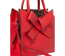 CUTTING EDGE BOW SATCHEL RED - HANDBAGS - Betsey Johnson