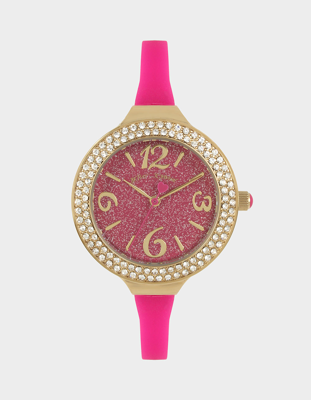 DAINTY SILICONE STRAP WATCH PINK - JEWELRY - Betsey Johnson