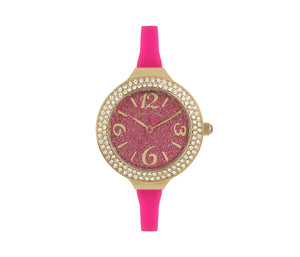 DAINTY SILICONE STRAP WATCH PINK