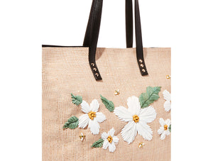 DAISYD AND CONFUSED TOTE NATURAL