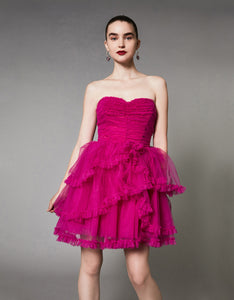 DANCE THE NIGHT AWAY DRESS FUCHSIA