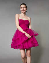 DANCE THE NIGHT AWAY DRESS FUCHSIA - APPAREL - Betsey Johnson