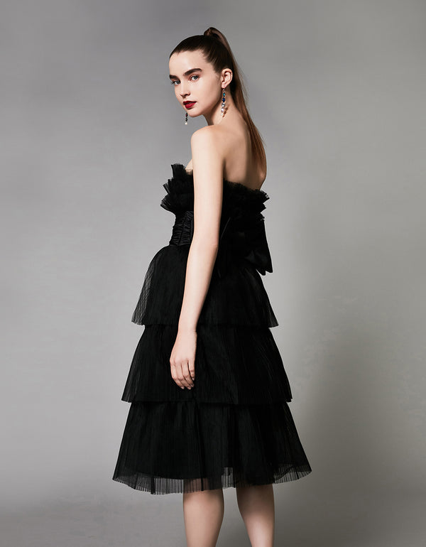 DANCING DREAM DRESS BLACK - APPAREL - Betsey Johnson