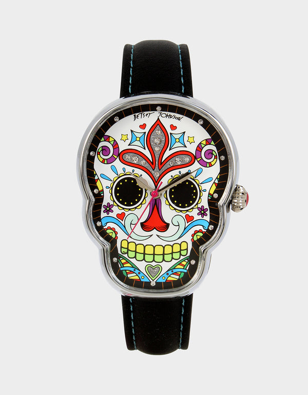 DAY OF THE DEAD WATCH BLACK - JEWELRY - Betsey Johnson