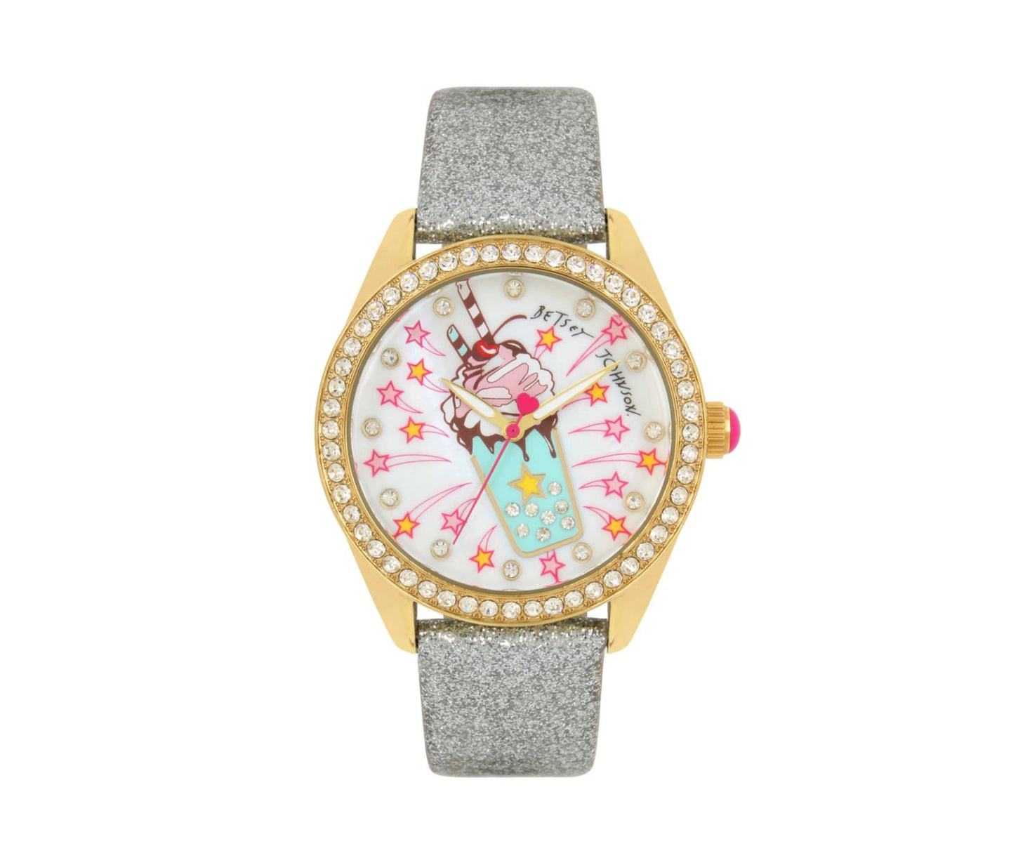 DINER TIME SHAKE IT UP WATCH BLACK - JEWELRY - Betsey Johnson
