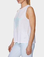DOTTED STAR MUSCLE SWING TANK WHITE - APPAREL - Betsey Johnson