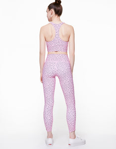 POLKA DOT FOLD OVER LEGGING PINK