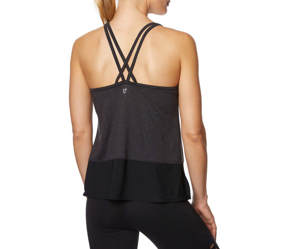 DOUBLE STRAP TANK WITH INNER BRA BLACK - APPAREL - Betsey Johnson