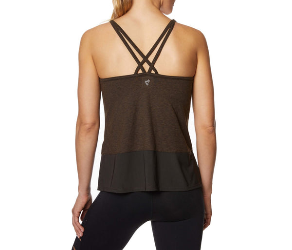 DOUBLE STRAP TANK WITH INNER BRA MOSS MULTI - APPAREL - Betsey Johnson