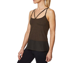 DOUBLE STRAP TANK WITH INNER BRA MOSS MULTI