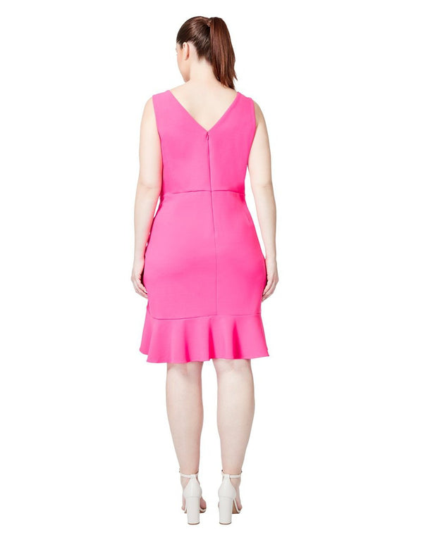 DOUBLE TROUBLE DRESS PINK (EXTENDED SIZING) - APPAREL - Betsey Johnson