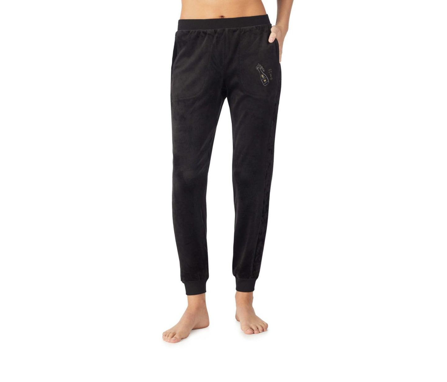 DREAM ON VELOUR JOGGER BLACK - APPAREL - Betsey Johnson
