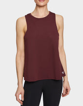 DROP BACK TWIST SWING TANK WINE - APPAREL - Betsey Johnson