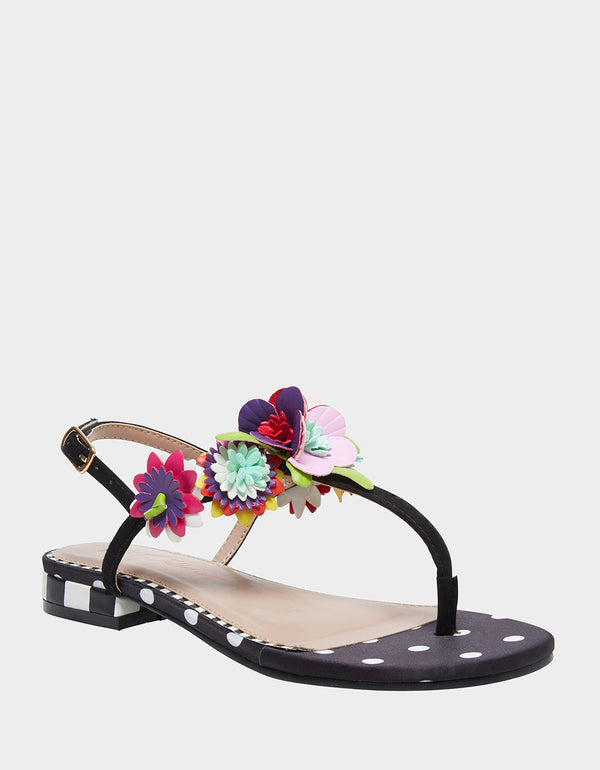 ESMEE BLACK/WHITE - SHOES - Betsey Johnson