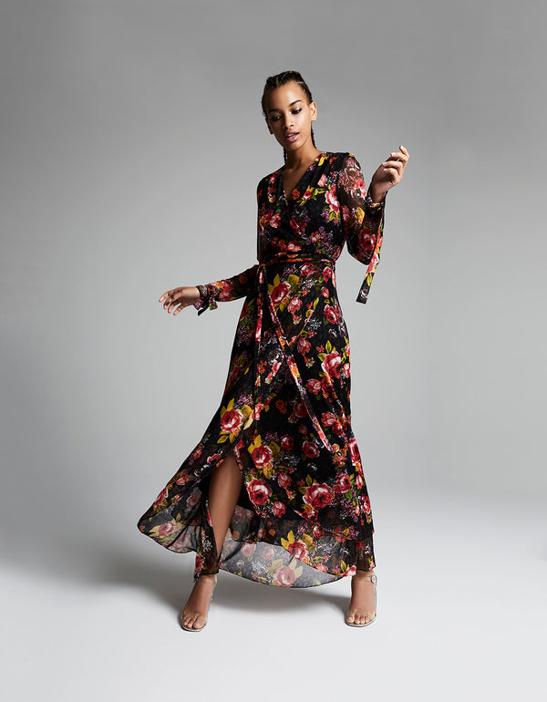 FAB FLORAL MESH MAXI DRESS MULTI - APPAREL - Betsey Johnson
