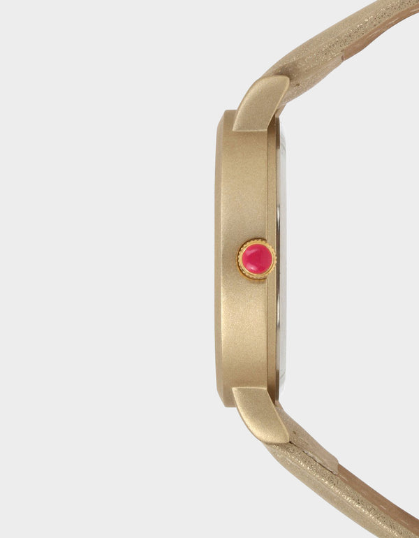 FADED GLORY OMBRE WATCH GOLD - JEWELRY - Betsey Johnson