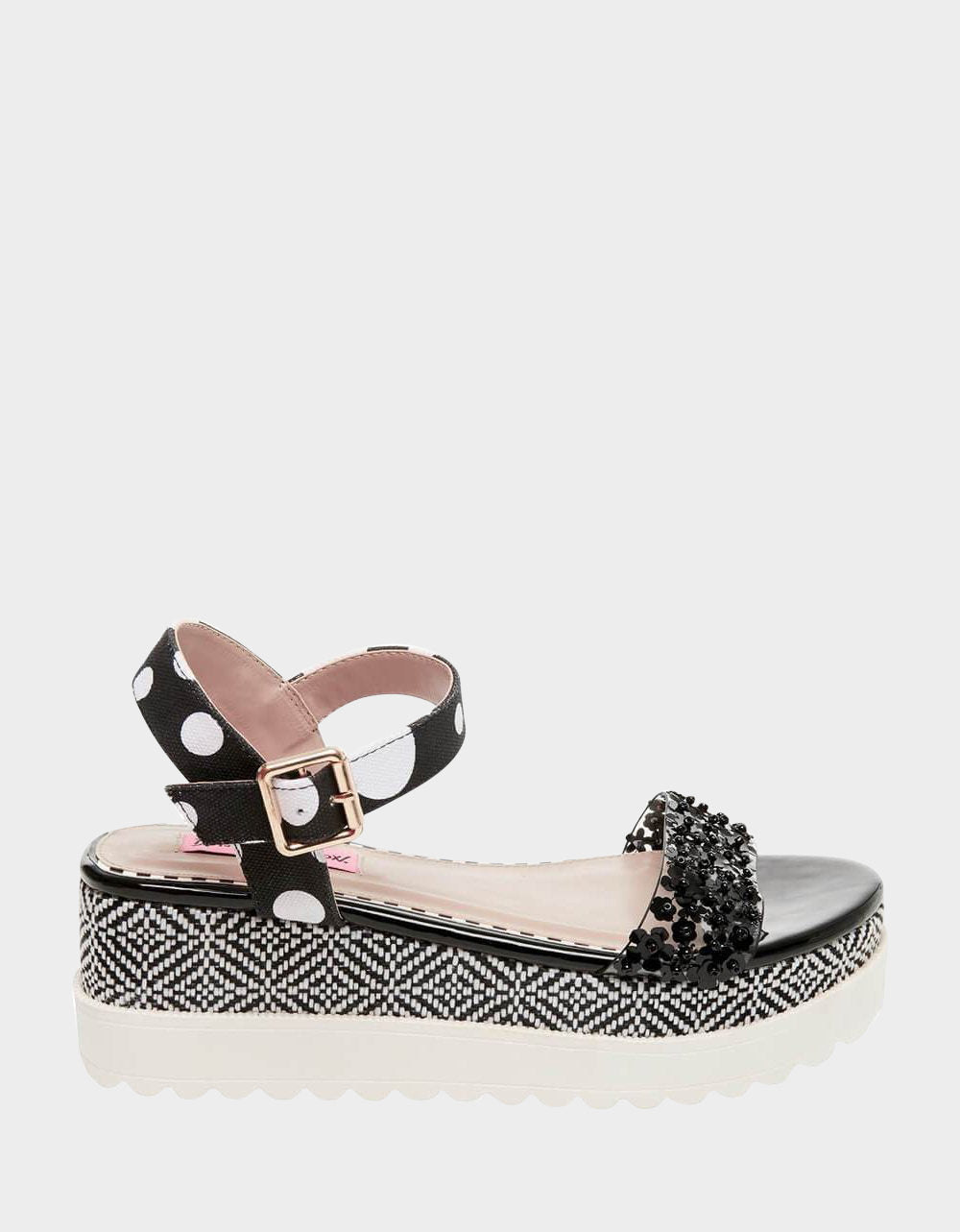 FAEGAN BLACK MULTI - SHOES - Betsey Johnson