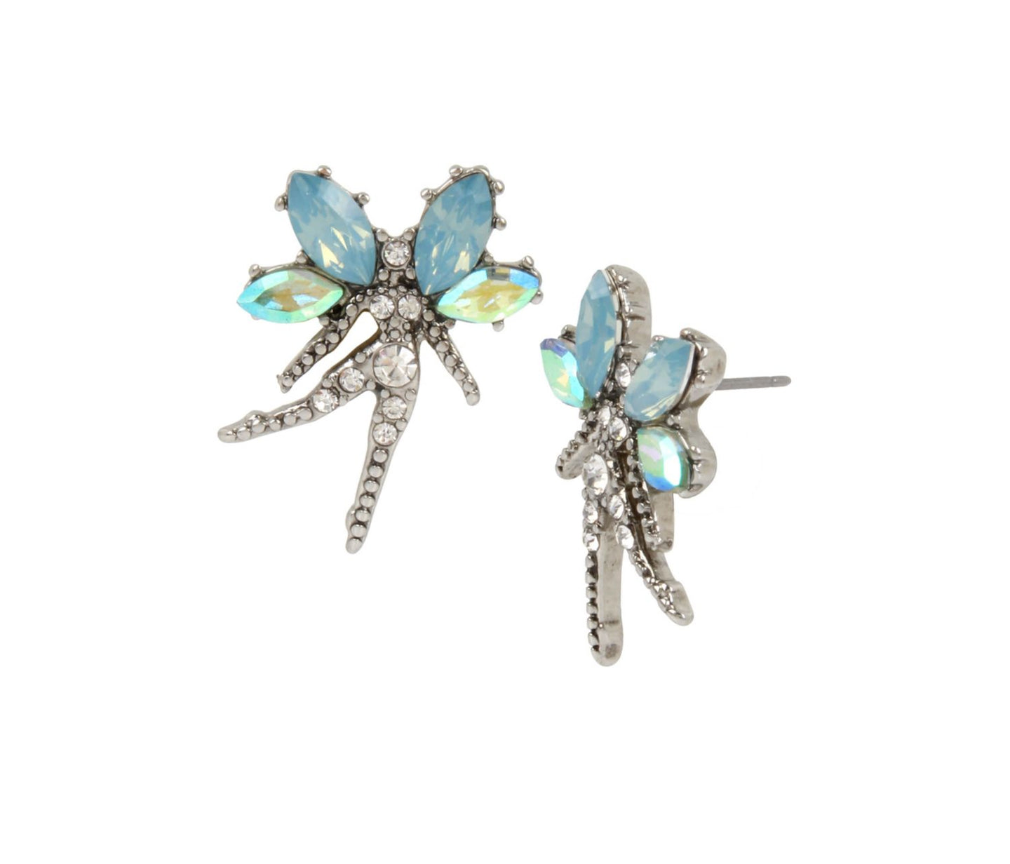 FAIRYTALE DREAMS FAIRY STUD EARRINGS BLUE - JEWELRY - Betsey Johnson