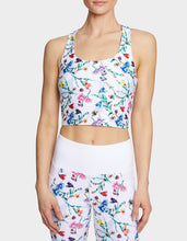 FALLING FOR FLORAL CROP TANK BRA FLORAL MULTI - APPAREL - Betsey Johnson