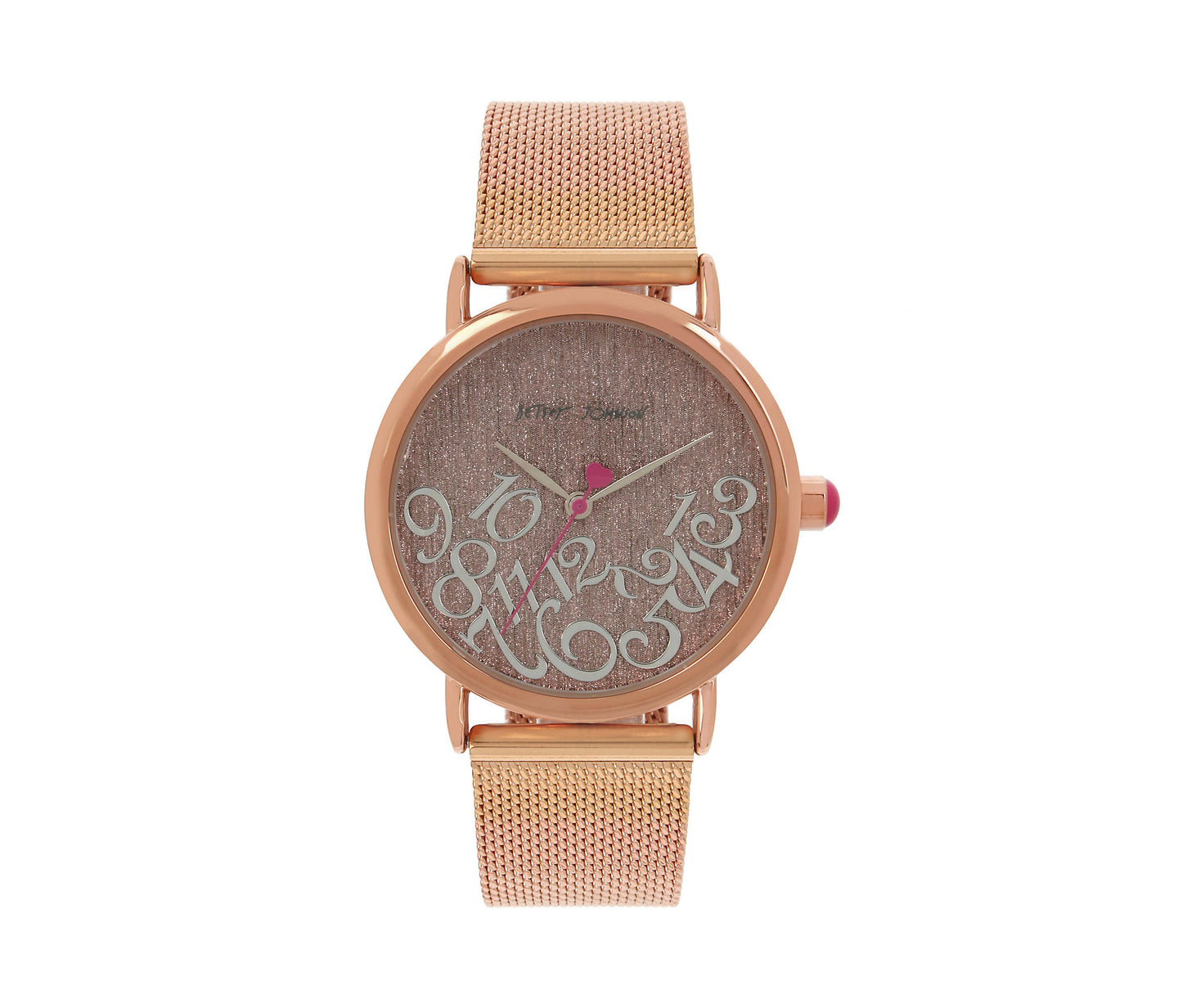 FALLING FOR MESH ROSE GOLD WATCH ROSE GOLD - JEWELRY - Betsey Johnson