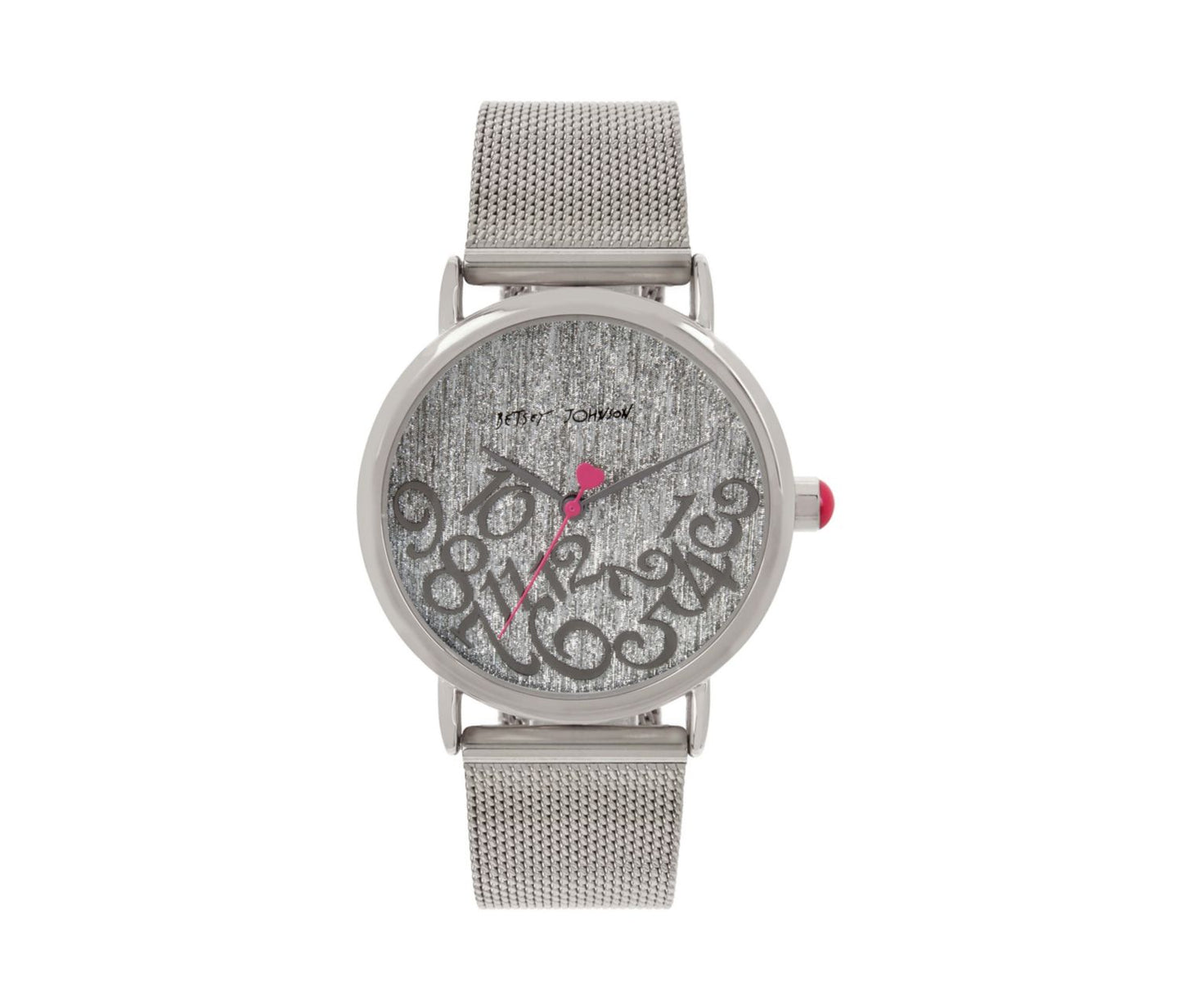 FALLING FOR MESH SILVER WATCH SILVER - JEWELRY - Betsey Johnson