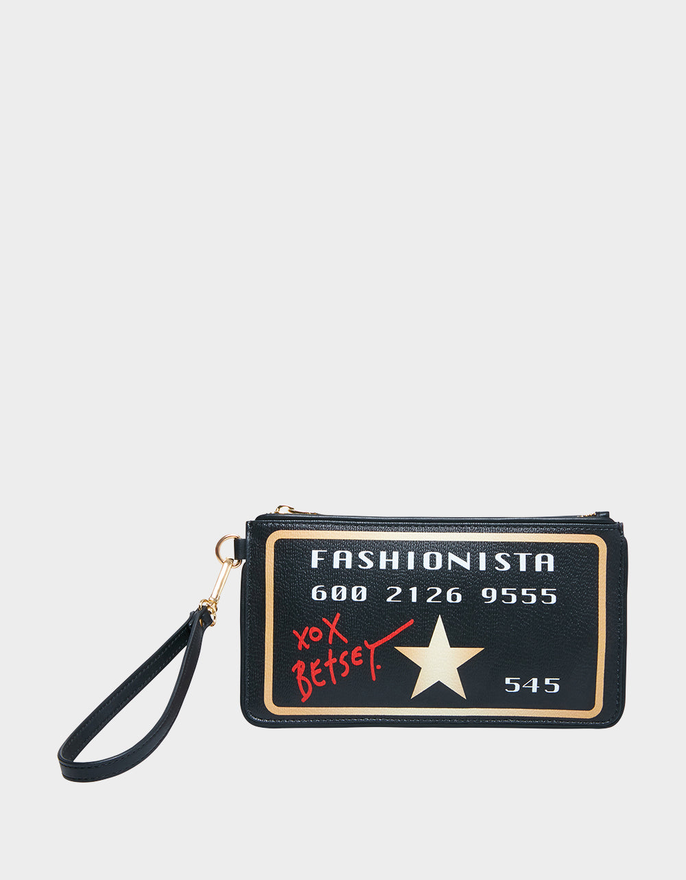 FASHIONISTA WRISTLET BLACK - HANDBAGS - Betsey Johnson