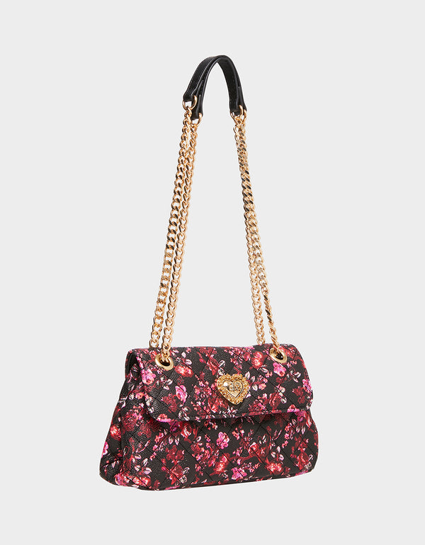 FEELING DIZZY QUILTED CROSSBODY FLORAL - HANDBAGS - Betsey Johnson