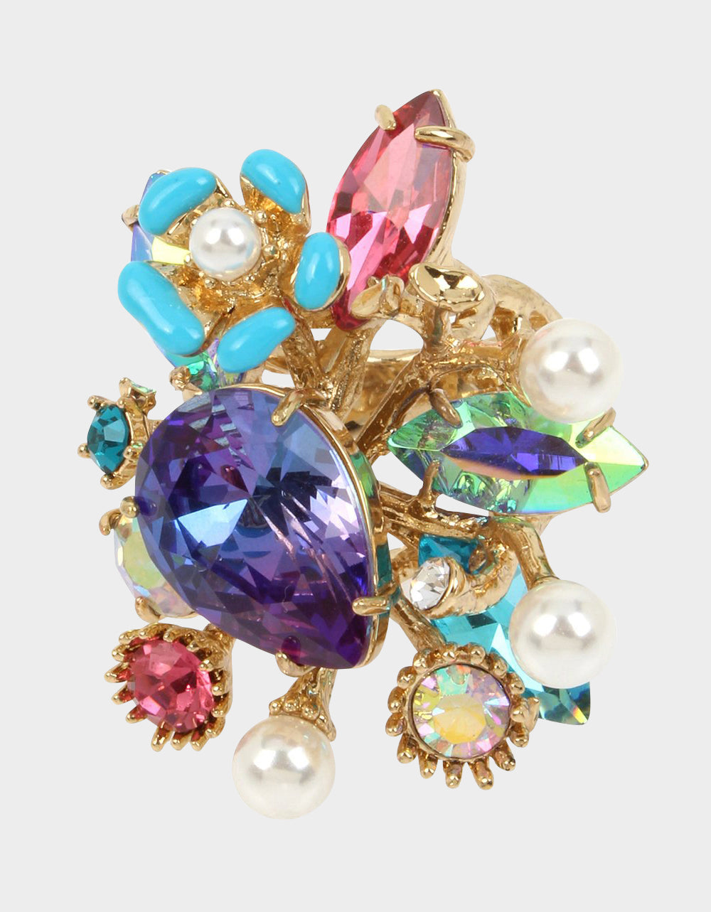 FESTIVAL MERMAID CLUSTER RING MULTI - JEWELRY - Betsey Johnson