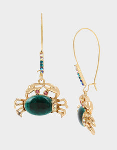 FESTIVAL MERMAID CRAB HOOK EARRINGS TEAL