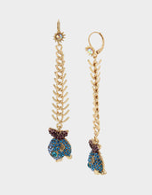 FESTIVAL MERMAID FISH LINEAR EARRINGS BLUE - JEWELRY - Betsey Johnson