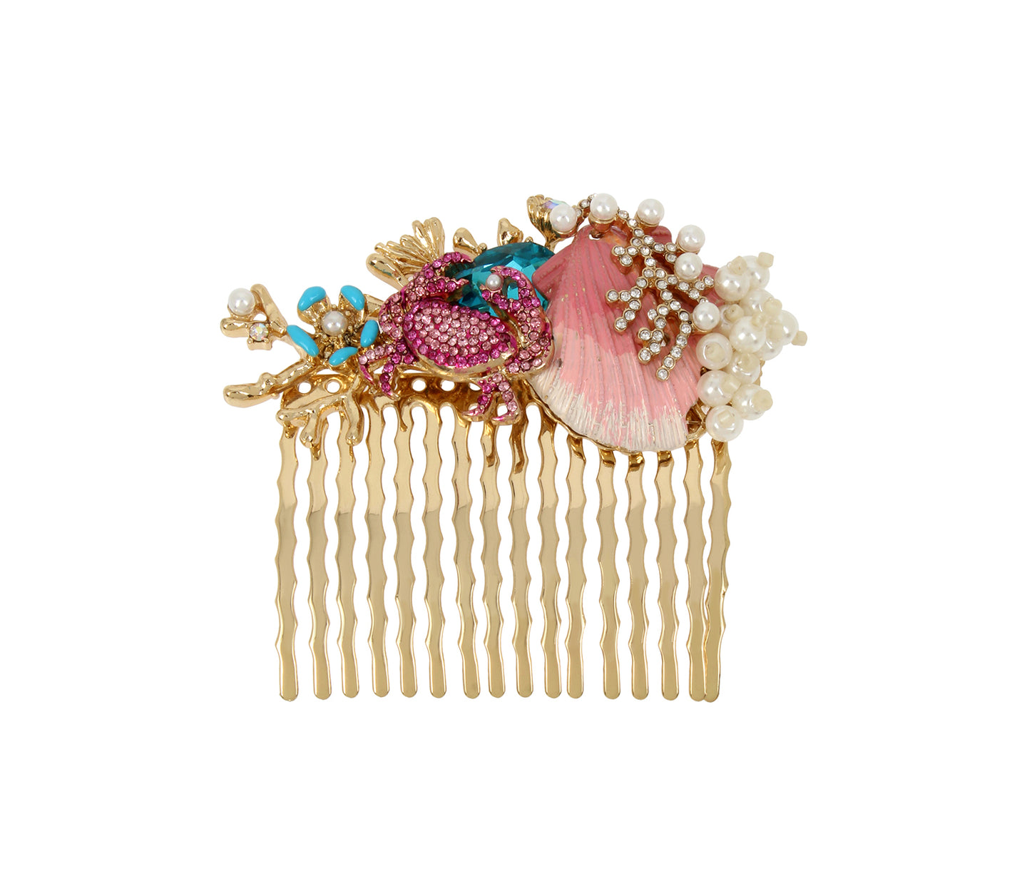 FESTIVAL MERMAID SEALIFE COMB MULTI - ACCESSORIES - Betsey Johnson