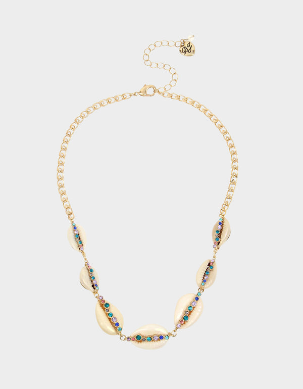 FESTIVAL MERMAID SHELL FRONTAL NECKLACE MULTI - JEWELRY - Betsey Johnson