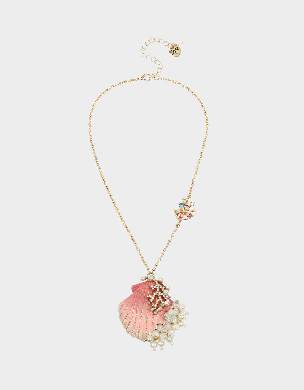 FESTIVAL MERMAID SHELL PENDANT MULTI - JEWELRY - Betsey Johnson