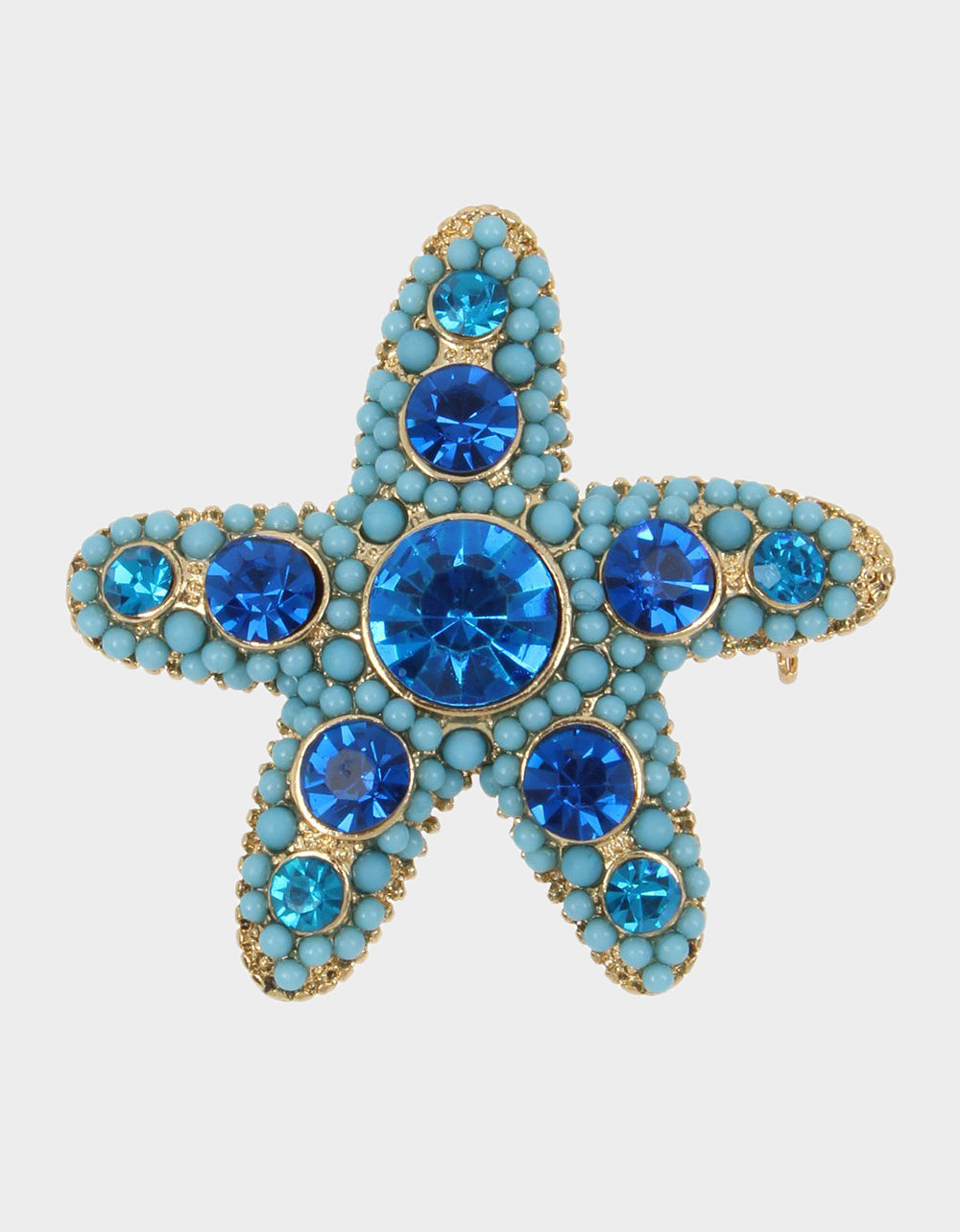 FESTIVAL MERMAID STARFISH PIN BLUE - ACCESSORIES - Betsey Johnson