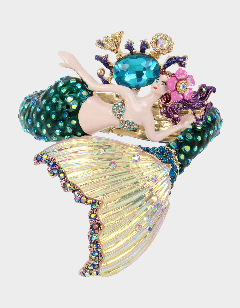FESTIVAL MERMAID STATEMENT BANGLE MULTI - JEWELRY - Betsey Johnson