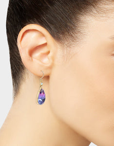 FESTIVAL MERMAID STONE DROP EARRINGS PURPLE