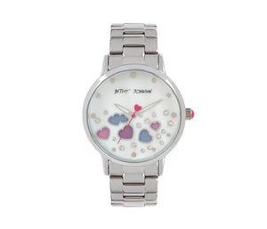 FLOATING AND CHANGING HEARTS WATCH SILVER