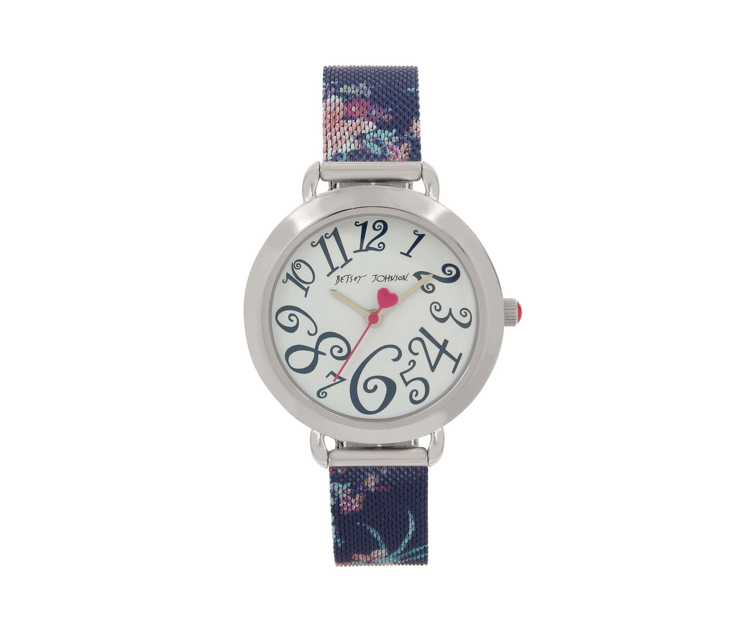 FLORAL MESH STRAP NAVY WATCH NAVY - JEWELRY - Betsey Johnson