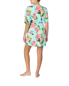 FOR THE FRILL OF IT SLINKY ROBE FLORAL