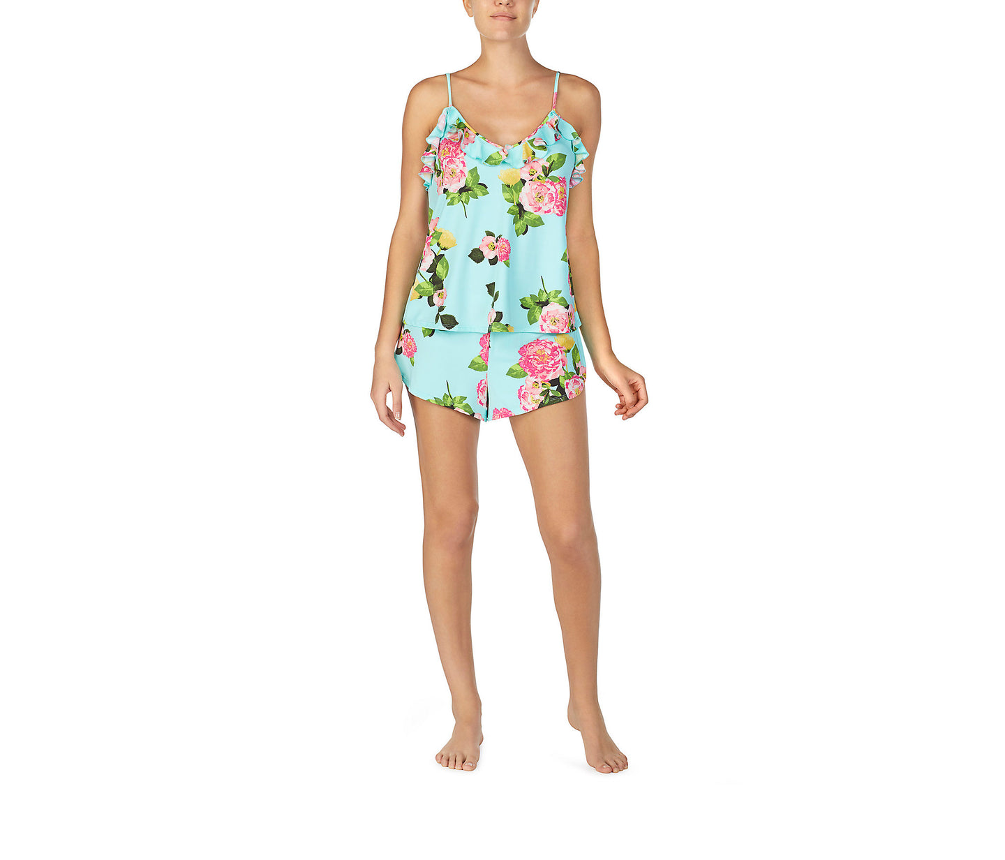 FOR THE FRILL OF IT SLINKY SHORT SET FLORAL - APPAREL - Betsey Johnson