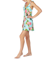 FOR THE FRILL OF IT SLINKY SLIP FLORAL - APPAREL - Betsey Johnson