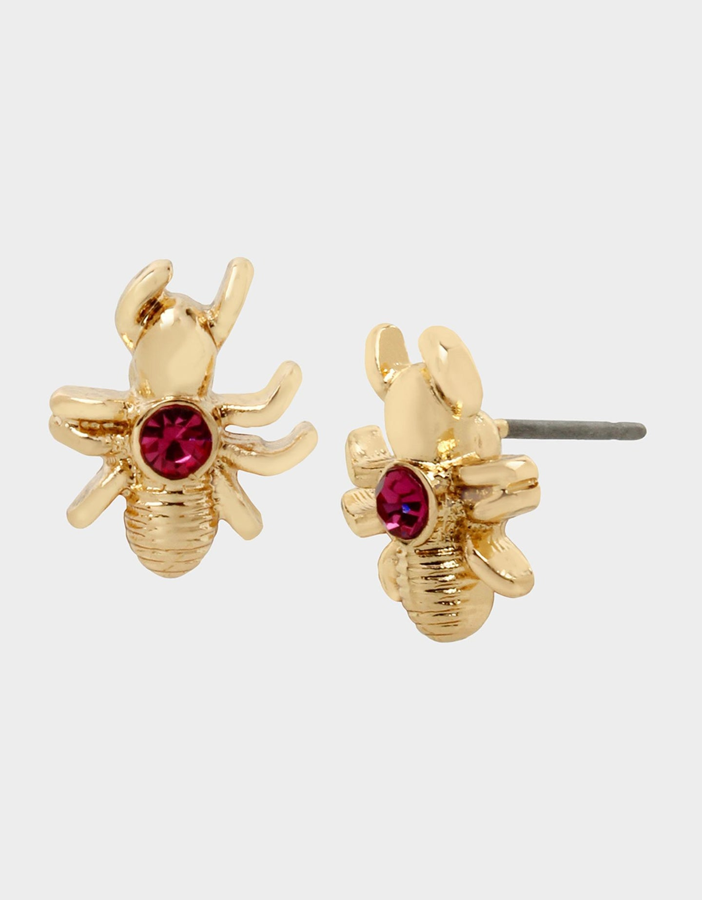 FORBIDDEN FRUIT ANT STUDS PINK - JEWELRY - Betsey Johnson