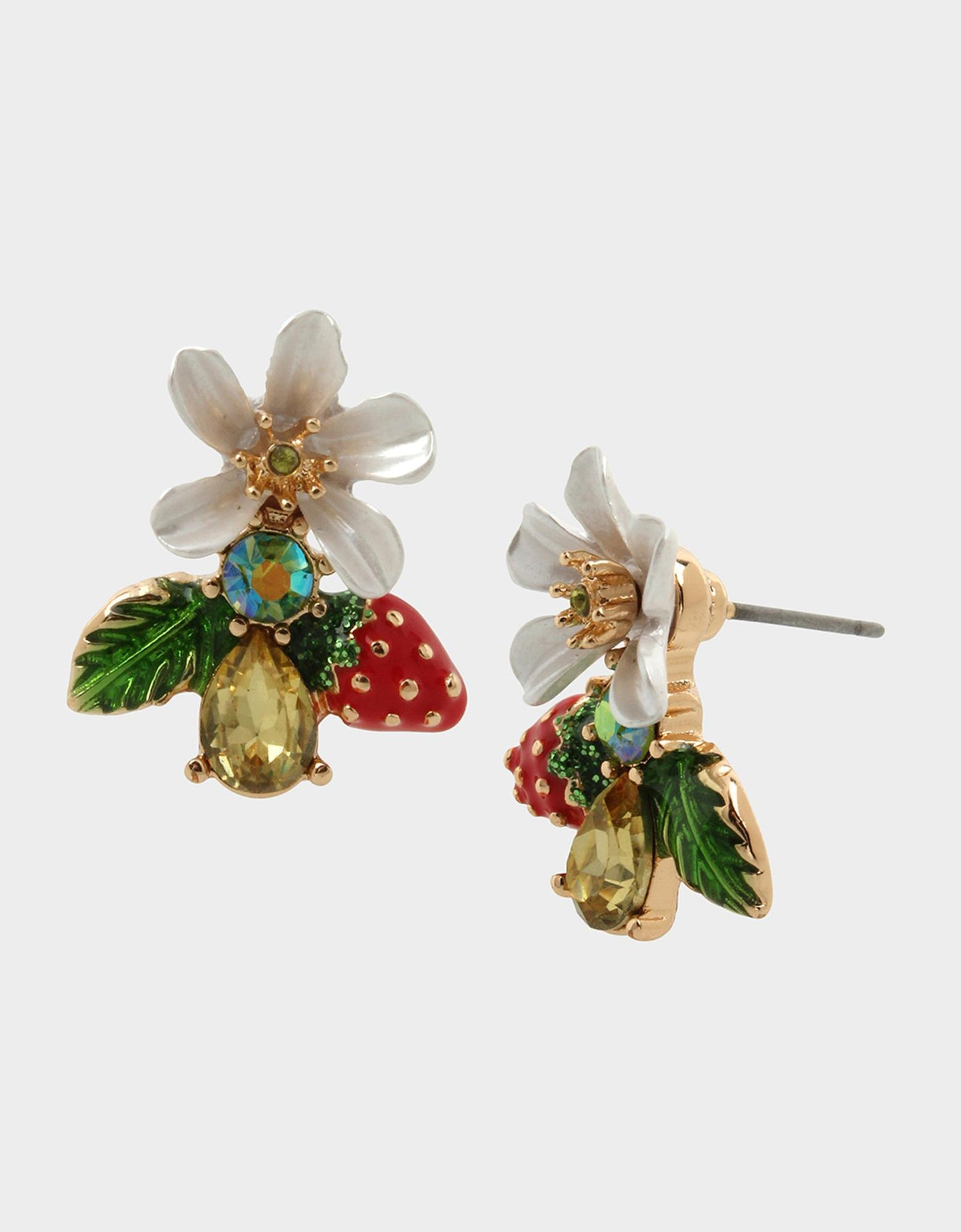 FORBIDDEN FRUIT CLUSTER EARRINGS MULTI - JEWELRY - Betsey Johnson