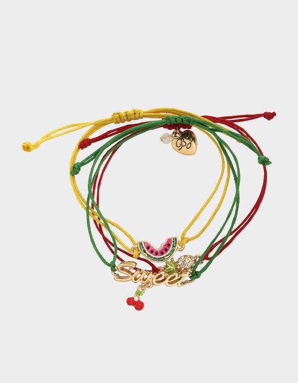 FORBIDDEN FRUIT FRIENDSHIP BRACELET SET MULTI - JEWELRY - Betsey Johnson
