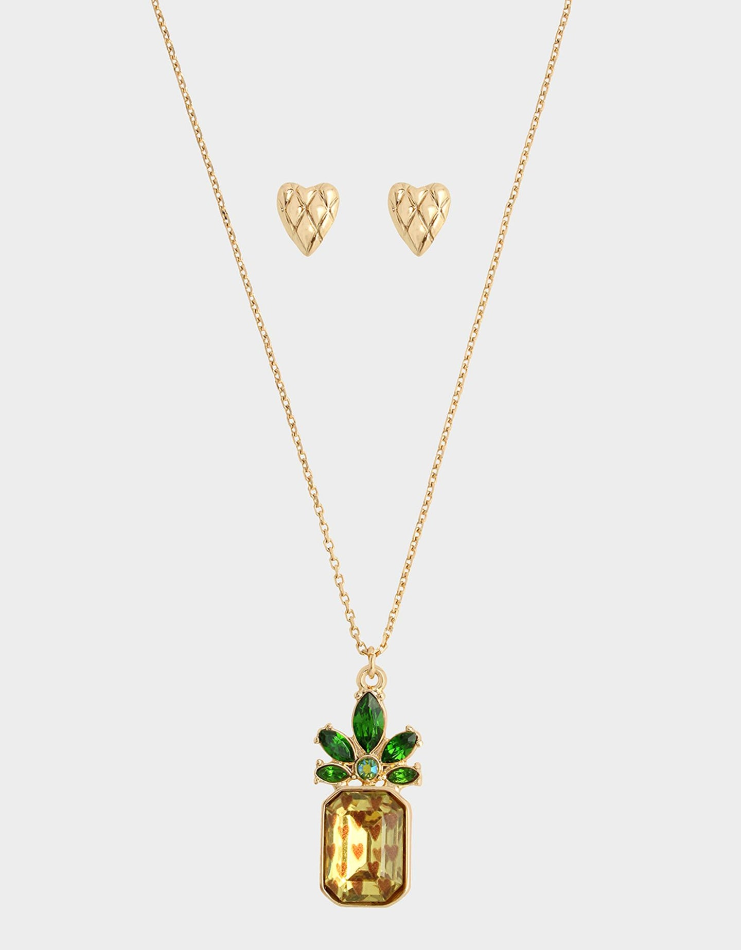 FORBIDDEN FRUIT PINEAPPLE SET YELLOW - JEWELRY - Betsey Johnson