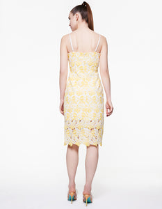 LEMON LACE DRESS YELLOW