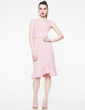 PEARL TRIM BODYCON DRESS BLUSH - APPAREL - Betsey Johnson