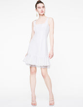 DOTTED MESH DETAILS DRESS IVORY - APPAREL - Betsey Johnson