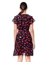 FRENCH KISSES WRAP DRESS RED MULTI - APPAREL - Betsey Johnson